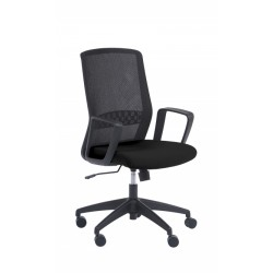 Silla de oficina brazos fijos Modelo SCOTT negro