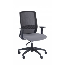 Silla de oficina brazos regulables Modelo SCOTT negro