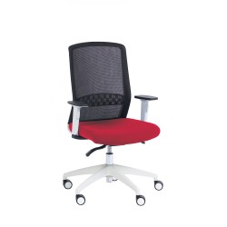 Silla de oficina brazos regulables Modelo SCOTT blanco